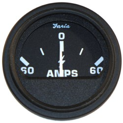 "Faria 2"" Heavy-Duty Ammeter (60-0-60) - Black *Bulk Case of 24*"