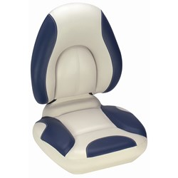 Attwood SAS Centric Fully Upholstered Seat - Off White/Blue