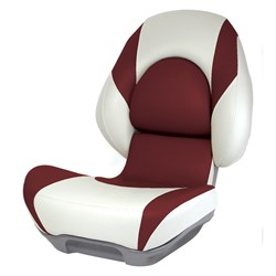 Attwood Standard Centric 2™ Fully Upholstered Seat - Tan/Burgundy