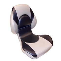 Attwood Standard Centric 2™ Fully Upholstered Seat - Smoke/Black