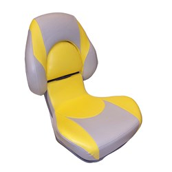 Attwood SAS Centric 2™ Fully Upholstered Seat - Gray/Yellow