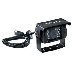 VDO 120° Rear View Black Camera w/Sun Guard & Audio Input Option - Large