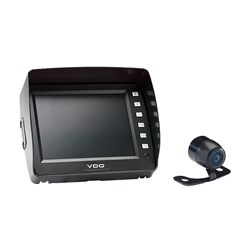 "VDO 5.6"" Display w/Rear View Black Mini Camera w/Parking Guide Lines"