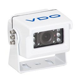 VDO 120° White Rear View Small Camera w/IR Red Lights