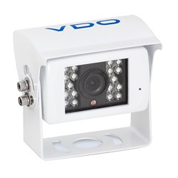 VDO 120° White Rear View Large Camera w/Sun Guard & Audio Input Option