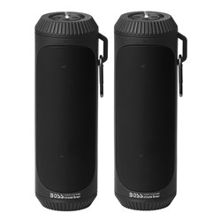 Boss Audio Bolt Marine Bluetooth® Portable Speaker System w/Flashlight - Pair - Black