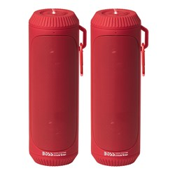 Boss Audio Bolt Marine Bluetooth® Portable Speaker System with Flashlight - Pair - Red