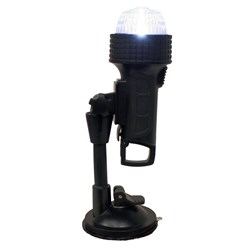 "Aqua Signal Series 27 Portable All-Round Light w/24"" Pole C-Clamp, U-Bracket, Suction Cup & Inflatable Adapter"