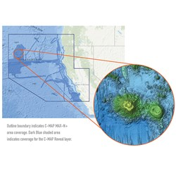 C-MAP Reveal - US Pacific - North California to South Oregon Point Sur CA to Cape Blanco OR