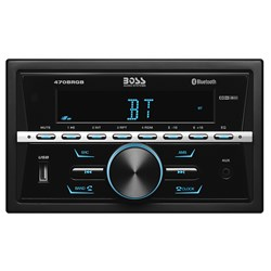 Boss Audio In-Dash Double-DIN, MECH-LESS Multimedia Player MP3 Compatible/BT/AM/FM Stereo w/USB Charger - 60W x 4