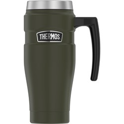 Thermos 16oz Stainless Steel Travel Mug - Matte Army Green - 7 Hours Hot/18 Hours Cold