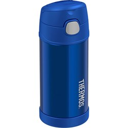 Thermos FUNtainer® Stainless Steel Insulated Blue Water Bottle w/Straw - 12oz