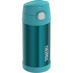 Thermos FUNtainer® Stainless Steel Insulated Teal Water Bottle w/Straw - 12oz
