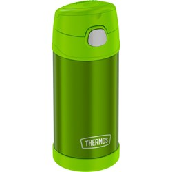 Thermos FUNtainer® Stainless Steel Insulated Green Water Bottle w/Straw - 12oz