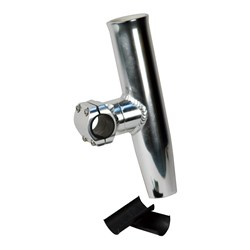 "C.E. Smith Adjustable Mid Mount Rod Holder Aluminum 1-1/4"" or 1-5/16"" w/Sleeve & Hex Key"