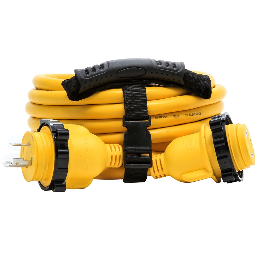 Camco Camco 30 Amp Power Grip Marine Extension Cord 25 M Locking F Locking Adapter 11 80746