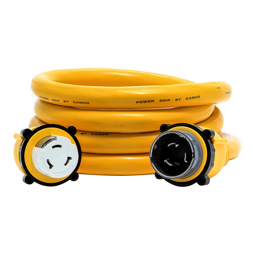 Camco Camco 50 Amp Power Grip Marine Extension Cord 12 M Locking F Locking Adapter 11 80752