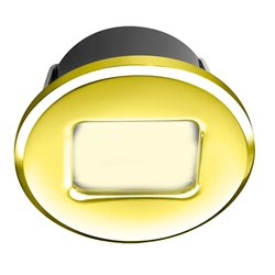 i2Systems Ember E1150Z Snap-In - Polished Gold - Round - Warm White Light