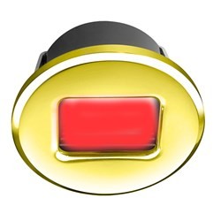 i2Systems Ember E1150Z Snap-In - Polished Gold - Round - Red Light