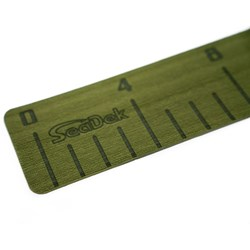 "SeaDek 4"" x 36"" 3mm Fish Ruler w/Laser SD Logo - Olive Green"
