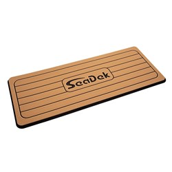 "SeaDek Faux Teak Helm Station Pad - 16"" x 39"" 13mm - Large - Faux Teak w/Black Laser SD Logo"