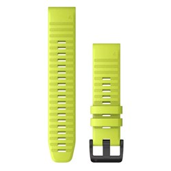 Garmin QuickFit® 22 Watch Band - Amp Yellow Silicone