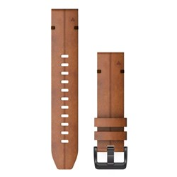 Garmin QuickFit® 22 Watch Band - Chestnut Leather