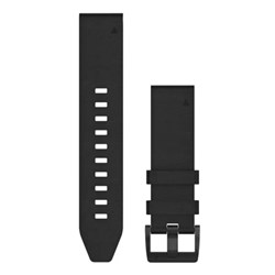 Garmin QuickFit® 22 Watch Band - Black Leather
