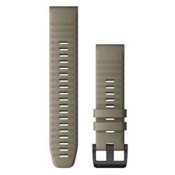 Garmin QuickFit® 22 Watch Band - Dark Sandstone Silicone