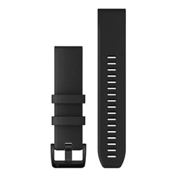 Garmin QuickFit® 22 Watch Band - Black w/Black Stainless Steel Hardware