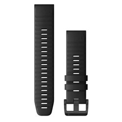 Garmin QuickFit® 22 Watch Band - Black Silicone