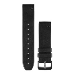 Garmin QuickFit® 22 Watch Band - Black Perforated Leather