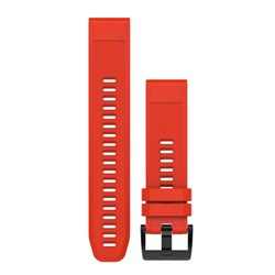 Garmin QuickFit® 22 Watch Band - Flame Red Silicone