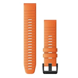 Garmin QuickFit® 22 Watch Band - Ember Orange Silicone