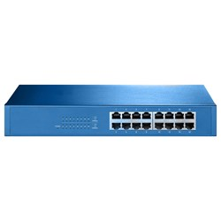 Aigean 16-Port Network Switch - Desk or Rack Mountable - 100-240VAC - 50/60Hz