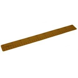 "SeaDek 4"" x 36"" 3mm Fish Ruler w/Laser Logo Mocha Brushed - 101.6mm x 965.2mm x 3mm"