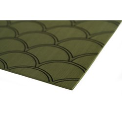 "SeaDek 40"" x 80"" 5mm Sheet Olive Green Brushed Fish Scale - 1016mm x 2032mm x 5mm"