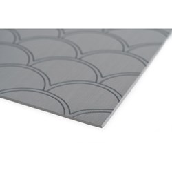 "SeaDek 40"" x 80"" 5mm Sheet Storm Grey Brushed Fish Scale - 1016mm x 2032mm x 5mm"