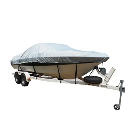 Carver Flex-Fit™ PRO Polyester Size 4 Boat Cover f/V-Hull & Tri-Hull Boats I/O or O/B - Grey