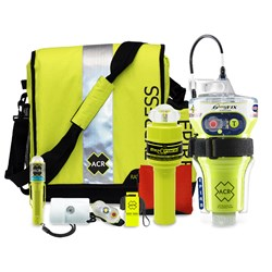ACR GlobalFix V4 EPIRB Survival Kit w/Rapid Ditch Bag, C-Strobe, H2O Signal Mirror, Rescue Whistle, HemiLight, ResQFlare & Distress Flag