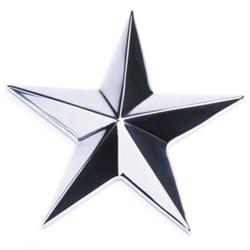 "Edson - 4"" Stainless Star"